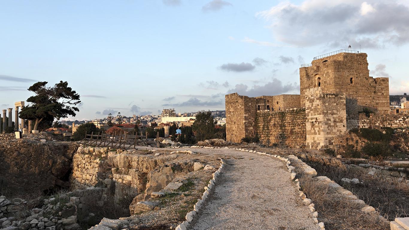 Byblos, no Monte Líbano: uma das cidades mais antigas do mundo